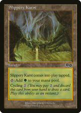 Magic MTG Tradingcard Urza's Saga 1998 Slippery Karst 327/350