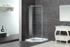 "ASTON GLOBAL 38"" x 38"" x 75"" Neo-Angle Semi-Frameless Shower Enclosure + Base"