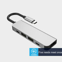 Type C HUB to USB3.0 HDMI Adapter Dock Splitter for MacBook Pro Accessory
