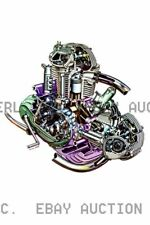 Ducati 750 roundcase sectioned engine drawing Poster 1970 ca 8 x 10 print poster