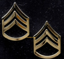 TWO REGULATION US ARMY STAFF SERGEANT E6 GOLD HAT PIN UP ARMY SSGT MILITARY RANK