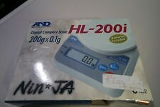 A&D WEIGHING HL-200I Compact Digital Scale,SS 200g Capacity