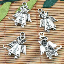 Tibetan Silver color cartoon animal design charms 12pcs EF0005