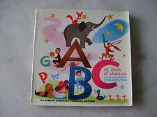 ABC en rimes et chansons - Livre-disque vinyle 33T 17 cm - Nathan