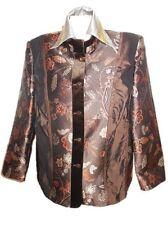 BASLER Vtg 80s 90s Womens Ethnic Tapestry Wedding Formal Blazer Jacket sz 20 X71