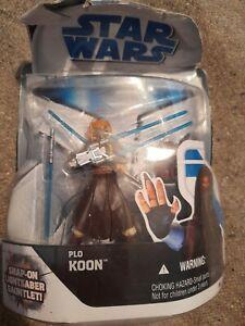 Hasbro Star Wars The Clone Wars Figure Plo Koon New Badly Damaged Box