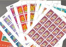Us Collection 10 Different Chinese Year Sheets 1994 / 2006, 2817 to 3997 Vf Mnh