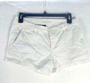 Women's White Shorts Victoria Secret Eva Pockets Cotton Blend Size 2 Stretch
