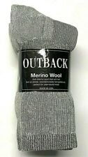 3 / 6 /12 Pair Men's Premium Gray Merino Wool Work Thermal Crew Sock SZ 9-11.