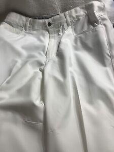 Callaway Mens Golf Performance Flat Front Tech Pant 34x30 White
