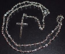 Catholic Rosary Silver Plated 5mm Round Metal beads Religious Virgin Center