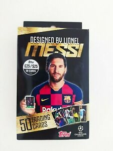 TOPPS DESIGNED BY LIONEL MESSI 50 CARD SEALED BOX  RRP £25