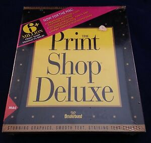 PRINTSHOP DELUXE MAC BRODERBUND New sealed in plastic wrap.....