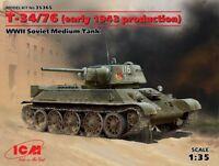 Icm 35365 - 1/35 WWII T-34/76 Soviet Medium Tank /Early 1943 Production) - Neu
