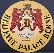 Luggage Label ~ Bellevue Palace Hotel Berne GERMANY ~ Two Dancing Bears