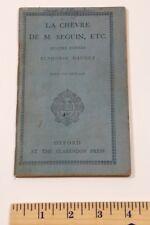 La Chevre De M. Seguin Oxford at the Clarendon Press 1932 Bookley