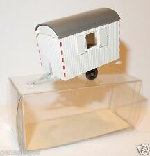 MICRO WIKING HO 1/87 CARAVANE DE CHANTIER BAUWAGEN HOME TRAILER BLANCHE IN BOX a