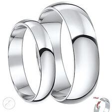 Palladium Wedding Rings His-Hers Set Solid Palladium 950  4&6mm Heavy D Shape