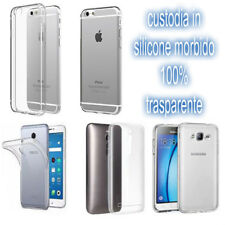 PER HUAWEI NOVA YOUNG 4G - cover in silicone posteriore trasparente clear soft