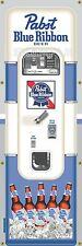 PABST BLUE RIBBON BEER VENDING MACHINE RETRO PUB BAR ART BANNER MURAL SIGN 2 x 6