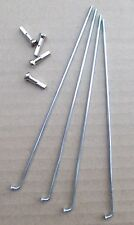 Bicycle Spokes 14g Steel Chrome with 16mm Long Nipples Various Sizes Sold by 4's