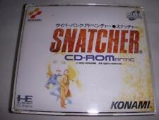 Snatcher nec PC Motor Scd Turbografx 16