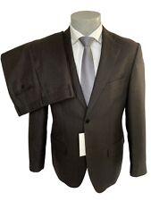 Abito uomo Confitalia, marrone Drop 6 in Pura Lana su tessuto tweed,sconto 60%