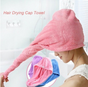 Fashion Women Microfiber Strong Water Absorbing Microfiber Dry Hair Towel Wrap S