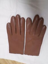 Brown 100% Nylon Ladies Gloves Size 6 1/2