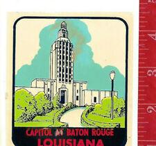 Vintage water decal Capiol at Baton Rouge Louisiana LINDGREN-TURNER