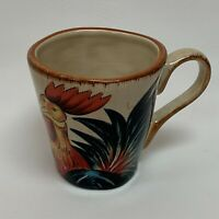 Dario Farrucci Designs Cup Mug Country Rooster 4.5 Hand Crafted Hand Painted