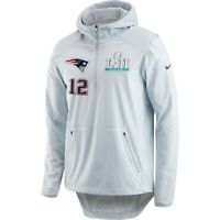 Nike New England Patriots Tom Brady #12 Super Bowl LII Player Name Media Jacket
