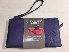 My Back-Up Buddy Phone Charger Wristlet + Rechargable Battery NEW Navy MUNDI