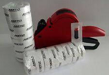 METO PRICE LABEL GUN,  Model P14, 1 Line,6 Digit,  Box white labels+ ink roller