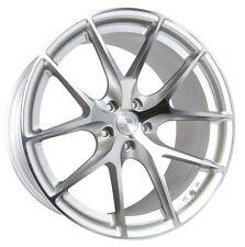 20x9/10.5 AodHan LS007 5X120 +30/35 Silver Rims Fits BMW F03 F11 F12 F13 E90 E92