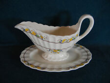 Spode Buttercup Gravy Boat with Separate Under Plate