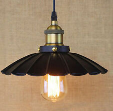 Water Lily Pattern Lamp Shade Lights Black/Brass Living Room Pendant Light UK