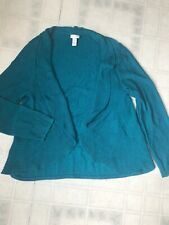 Chico's sz 3 XL Long Sleeve Open Front Cardigan Cotton Rayon Blend