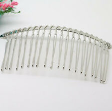 Metal Hair Clips Side Combs Pin Barrettes for Ladies Craft 75X37mm Wholesale
