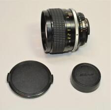 Nikon NIKKOR 85mm f/1.4 Ai-S Manual Focus F Mount Portrait Lens w caps