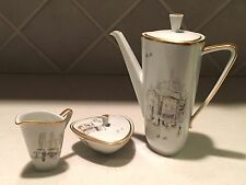 Mid Century Bavaria Germany Diadem Coffee Pot, Creamer and Sugar Set