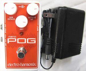 Used Electro-Harmonix EHX Nano Pog Polyphonic Octave Generator Effects Pedal