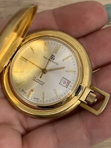 Paul Breguette Pocket Watch Gold Tone 17 Jewels Incabloc Swiss Made