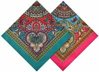 12Lot Bandana Head Wrap Scarf Cover Wristband Face Mask Paisley Print 100%Cotton