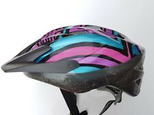 Pink Purple BELL Size 52 - 54 cms Bike helmet  MTB cycle Rd peak chin strap