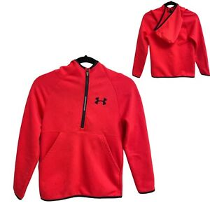 Under Armour Loose ColdGear 1/4 Zip Hoodie Pullover Orange Size Youth M (E-1M)