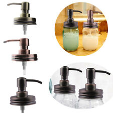 Stainless Steel Mason Jar Soap Lotion Dispenser Lid Pump Tube Canning Rust Proof
