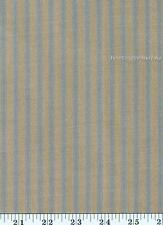 Dunroven House H-16  Homespun Country Blue Ticking Stripe Fabric 1/2 Yd Cut
