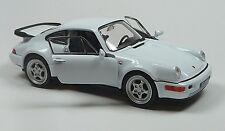 Modelauto Porsche 964 Turbo 1:37 weiß ca. 11,5 cm von WELLY Neuware