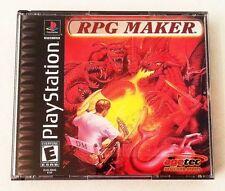 RPG Maker Playstation 1 PS1 Black Label complete in case w/ manual Great Shape